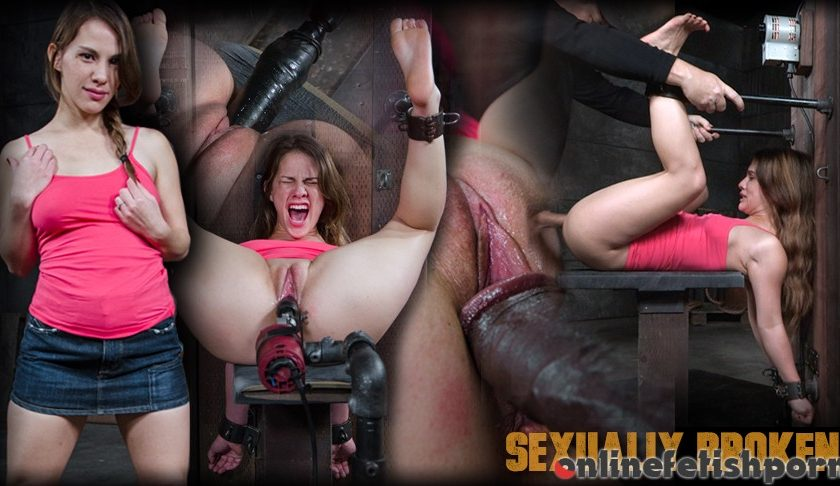 Sexuallybroken.com – Devilynne bound in half and tag.. Devilynne & Matt Williams & Jack Hammer 2016 Big Dick