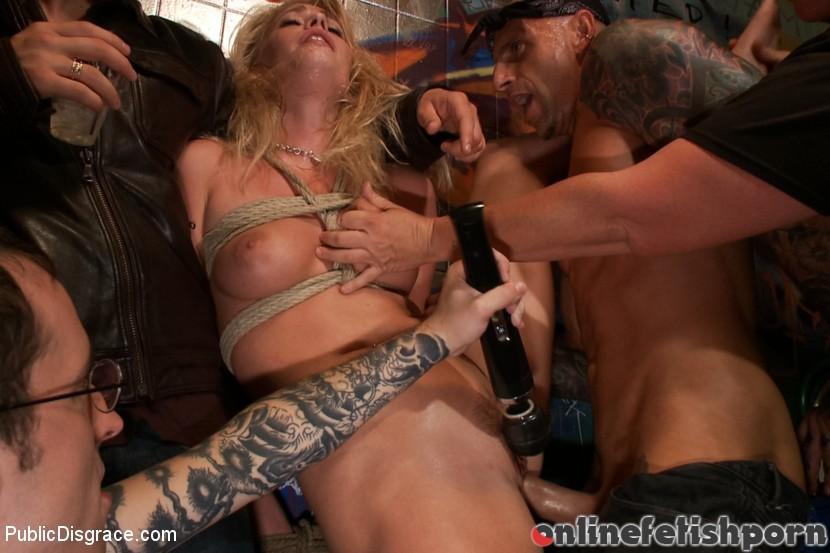 Publicdisgrace.com – Beautiful Petite Blonde Tied-Up.. Lorelei Lee & Allie James & Astral Dust 2013 Rope Bondage