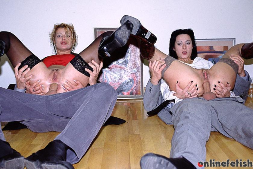 Private.com – Mimi and Sandra Take on Four.. Mimi & Sandra 2014 Brunettes