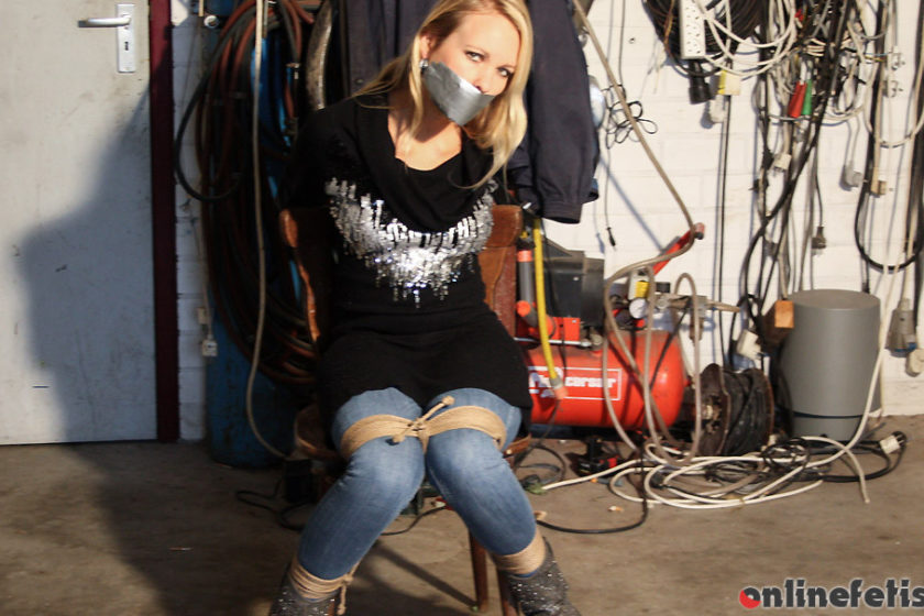 StrugglingBabes.com – Dutch Girl Chair-tied Mouth Taped.. Natalie 2016 Amateur
