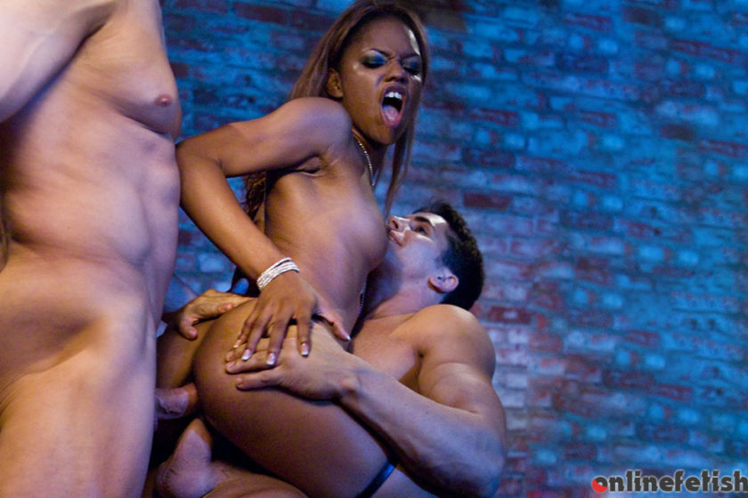 Private.com – Sexy Ebony Marie Luv is DP'd by.. Marie Luv 2015 Leather