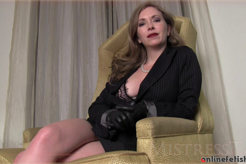 Mistresst.com – Leather Gloves  2014 Jerk Off Instruction