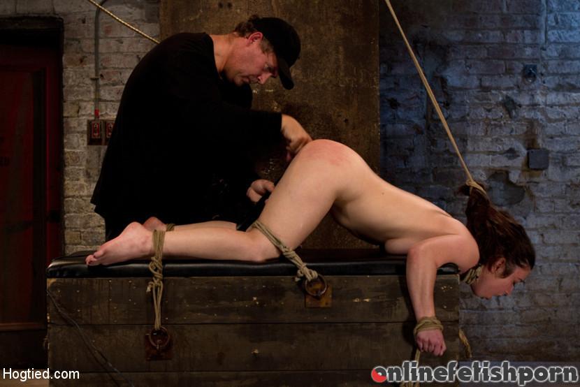Hogtied.com – Girl next door bound ass up… Serena Blair 2011 Rope Bondage