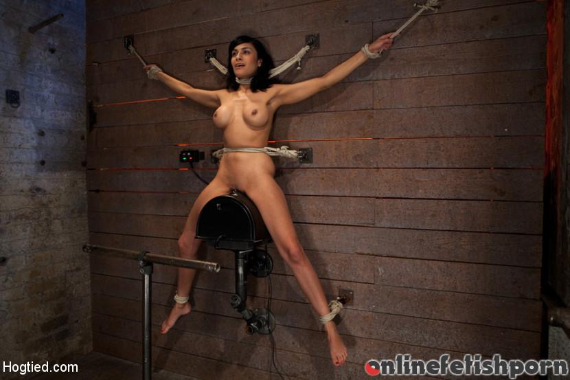 Hogtied.com – Nipples pull 1 way, neck rope.. Beretta James 2012 Vibrator