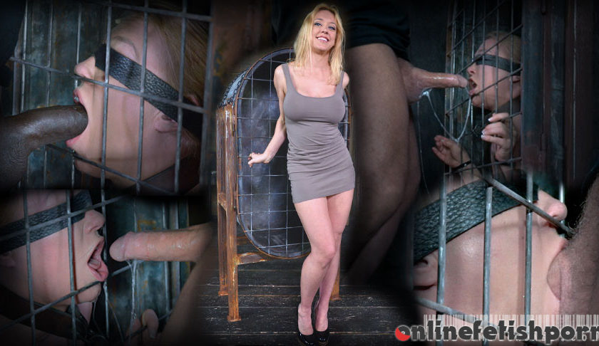 Realtimebondage.com – Darling blindfolded, caged and.. Dee Williams 2014 Deep Throat