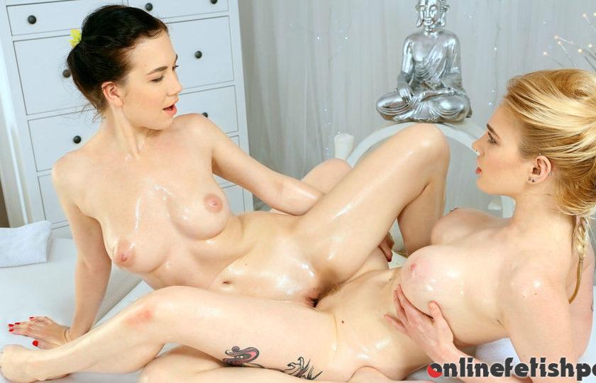 Massagerooms.com – New teen lesbian masseuse Carly Rae & Daphne Angel 2016 Scissoring