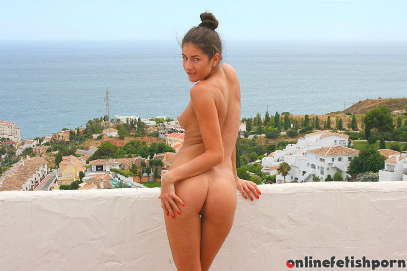 Privatesextapes.com – Sexy amateur massage for my horny.. Agnessa 2017 Brunette