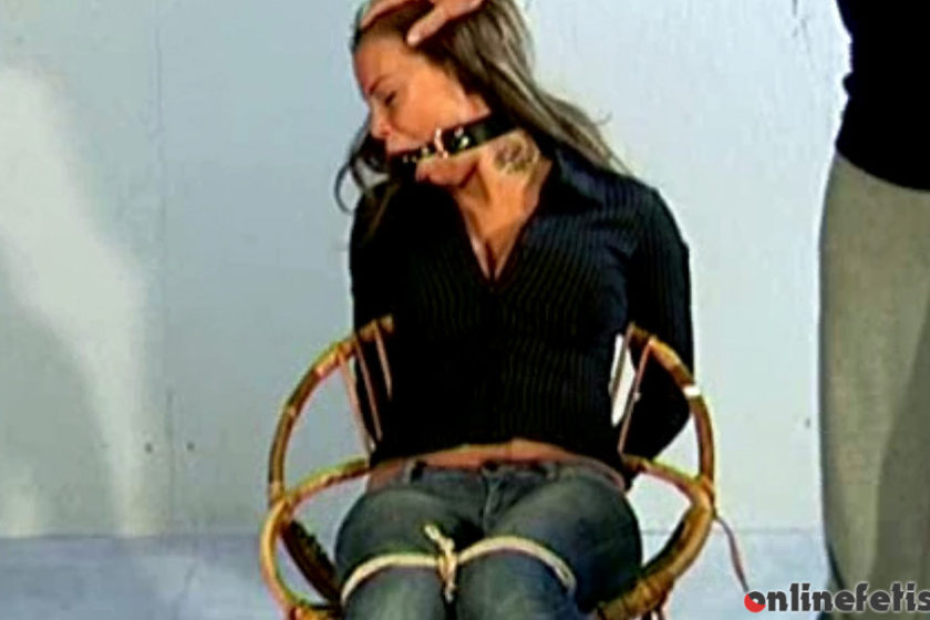 StrugglingBabes.com – Maya chairtied stripped and.. Maya 2016 Tit-grabbed