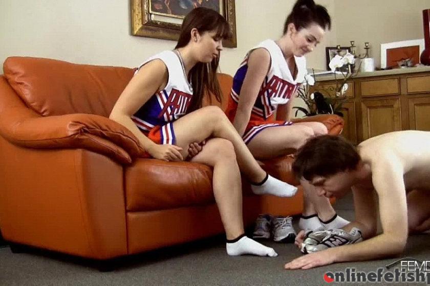 Femdomempire.com – Smelly Cheer Feet Amy White & Anna Lee 2012 Socks