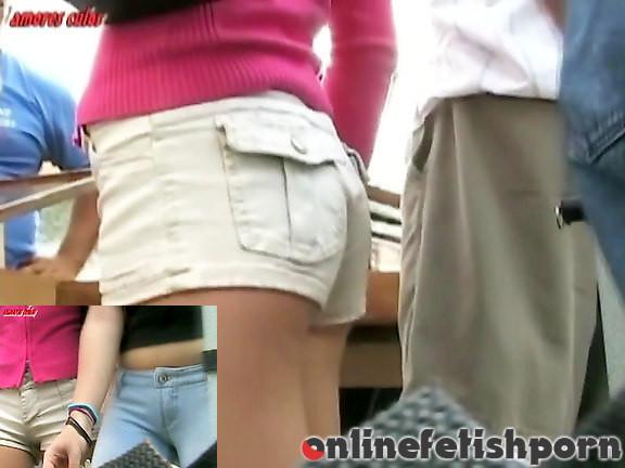 Upskirtcollection.com – Butt shorts of teenage babe  2012 Short Shorts