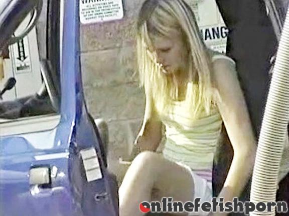 Upskirtcollection.com – Cute blonde girl and her short..  2013 Short Short Skirt